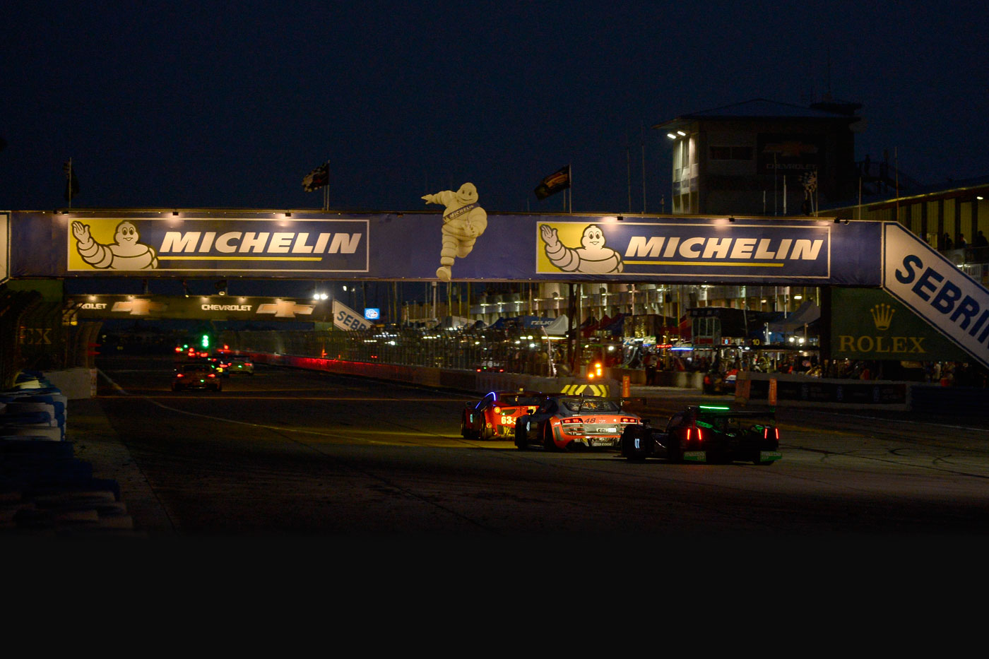 Corvette dominate night practice