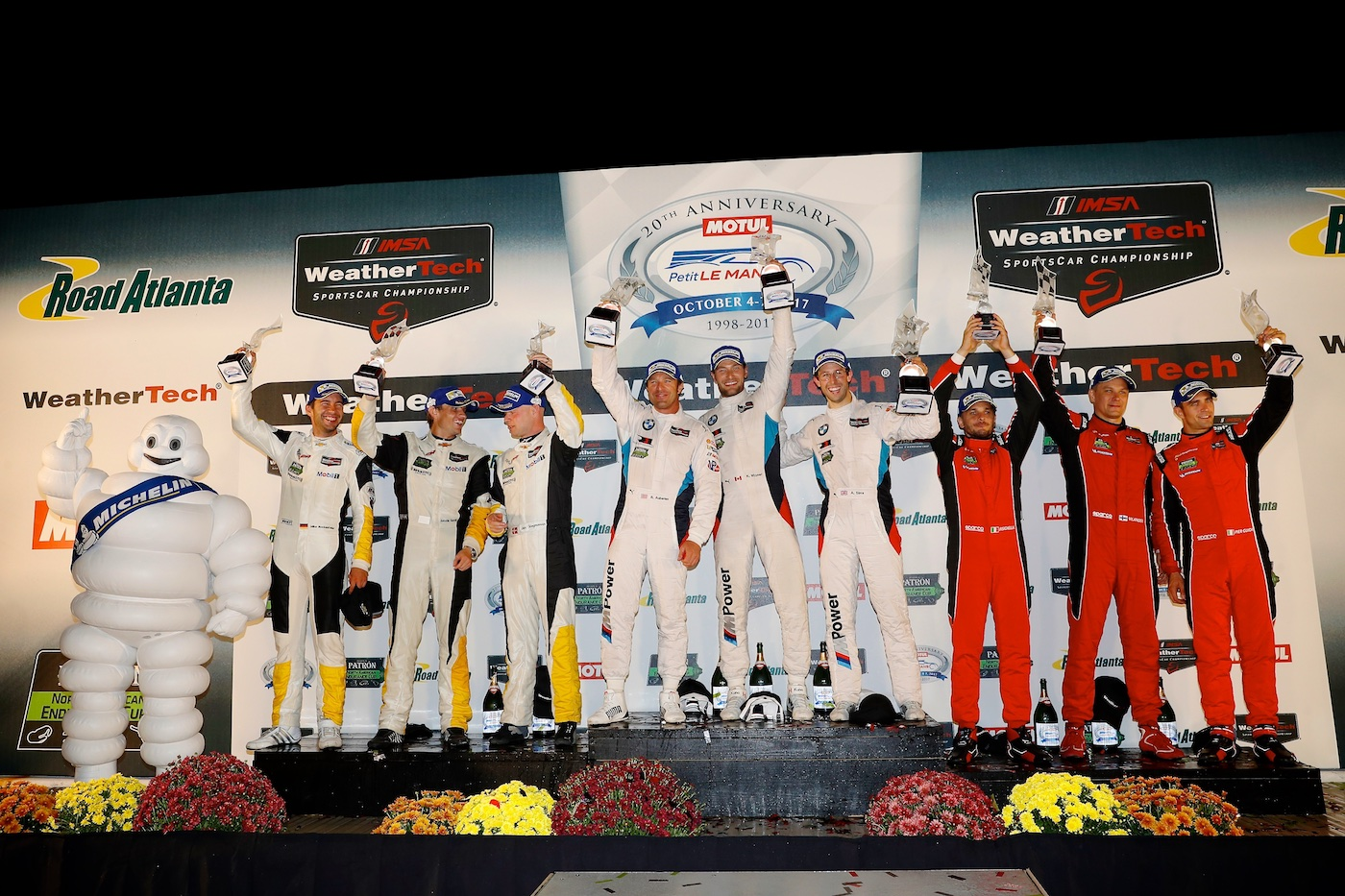 BMW, Corvette celebrate at Petit Le Mans