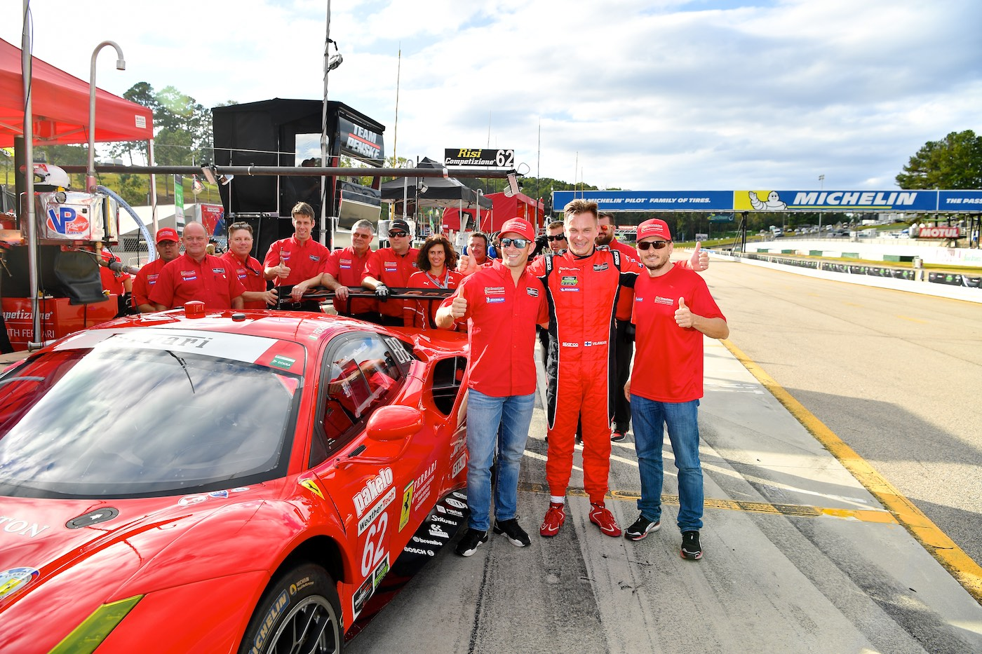 Vilander, Ferrari on Road Atlanta pole